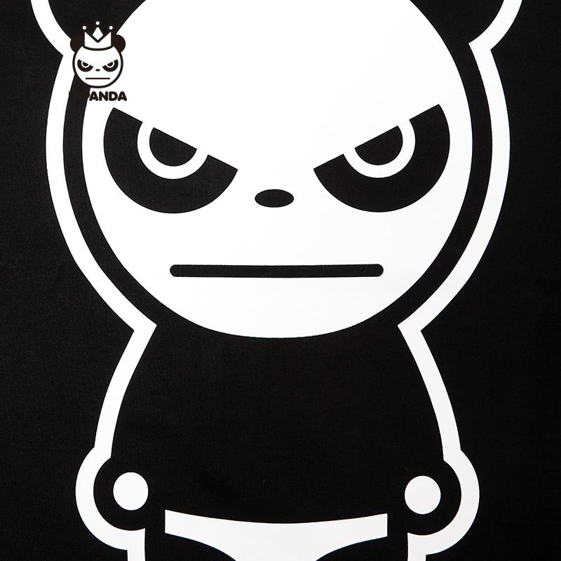 HIPANDA thiết kế triều thương hiệu của nam giới cổ điển panda xu hướng T-Shirt đây là đường phố khiêu vũ với các ngắn tay áo