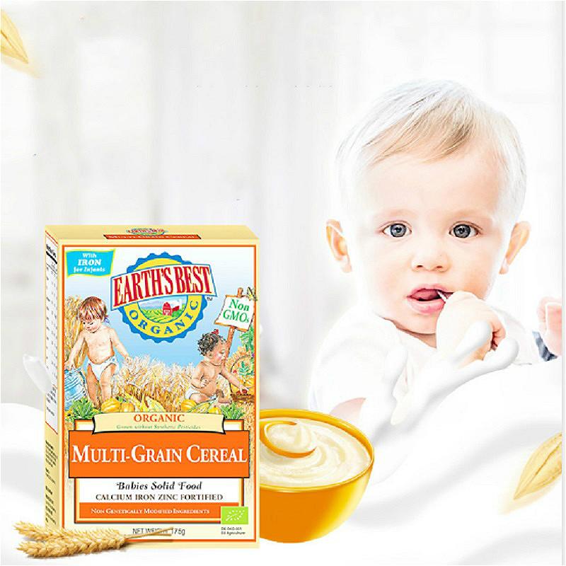 Earth's Best爱思贝地球世界宝宝高铁辅食米糊婴儿米粉多谷物米粉