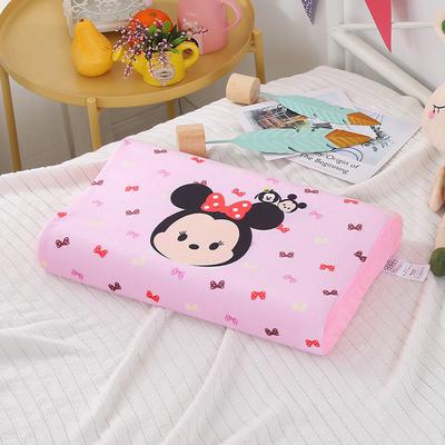 迪士尼Disney天然泰国进口乳胶枕儿童枕头学生记忆枕宝宝绒可水洗