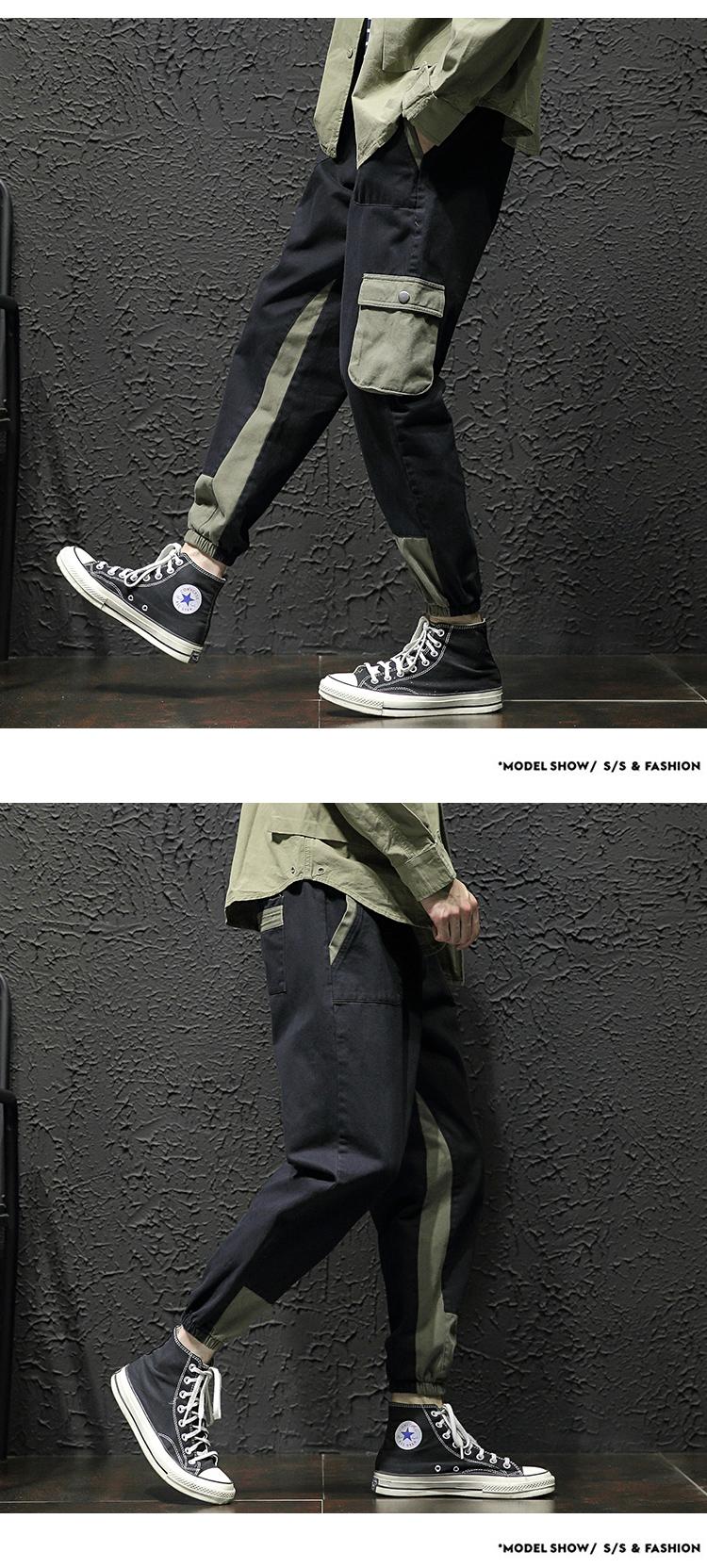 加绒  日系宽松大码工装裤休闲裤哈伦裤束脚裤3006-K826-P60