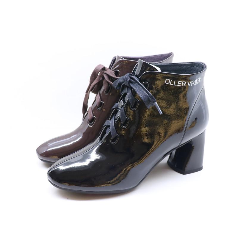 莎莉娅2019秋季新款专柜时尚真皮正品女单靴19x01672
