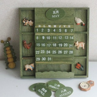 Manual wooden calendar creative ornaments countdown to the wooden Taiwan 15,000 years decorated handicraft gift