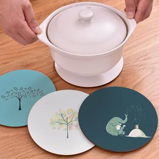 2个装软木锅垫防烫碗垫餐垫隔热垫