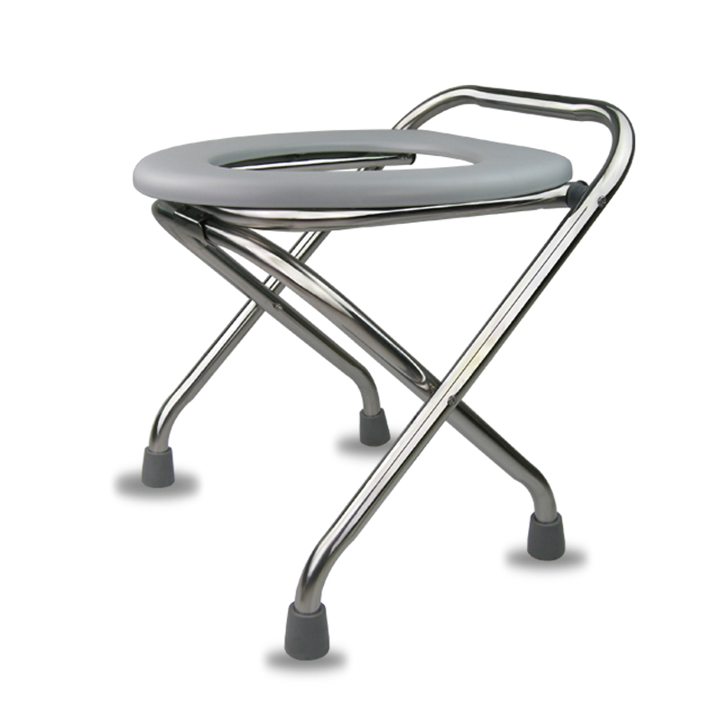 pliable vieillard assis tabouret chaise femme enceinte toilettes inox patient seat tabouret. Black Bedroom Furniture Sets. Home Design Ideas
