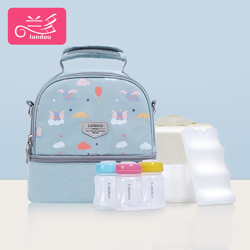 Lake Blue Elephant [single Bag + Liner Bag + 2 Pieces Of Blue Ice + 3 Pp Milk Cans]