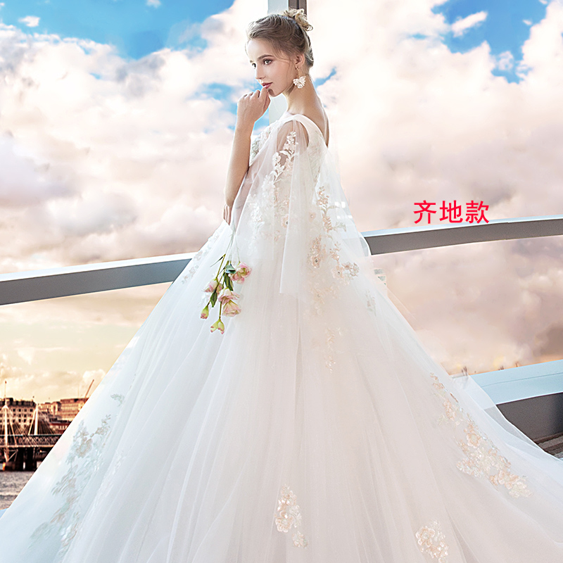 b01df595b64 The main wedding female 2019 new bride large size 200 pounds fat ...
