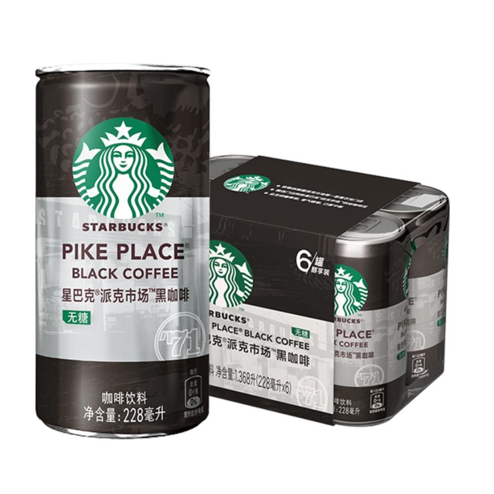星巴克派克市场黑咖啡228ml*6罐