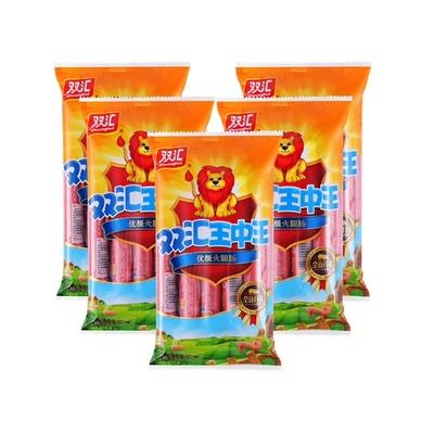 双汇王中王火腿肠 香肠休闲儿童宝宝零食即食小吃泡面300gx5袋