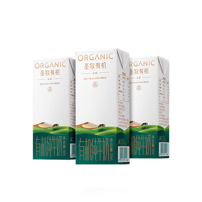 蒙牛圣牧有机品醇200ml*3尝鲜装沙漠全脂有机纯牛奶3月24日生产