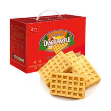 丹夫华夫饼原味720g糕点心早餐饼面包手撕充饥夜宵零食新年货礼盒