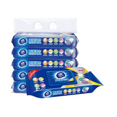 维达厨房专用清洁湿纸巾26片X5包厨房纸卫生湿巾