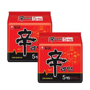农心韩国进口辛拉面120g*10 泡面方便面方面食品泡面拉面大包装
