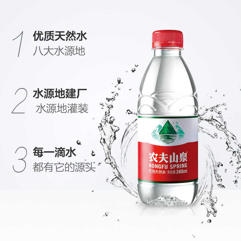 Nongfu Spring Drinking Natural Water 380ml 24 Bottle Box