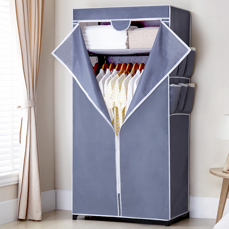 Йи цай годы легко ткань гардероб ткань стальная полка сложить хранение ткань гардероб один простой современный экономического типа