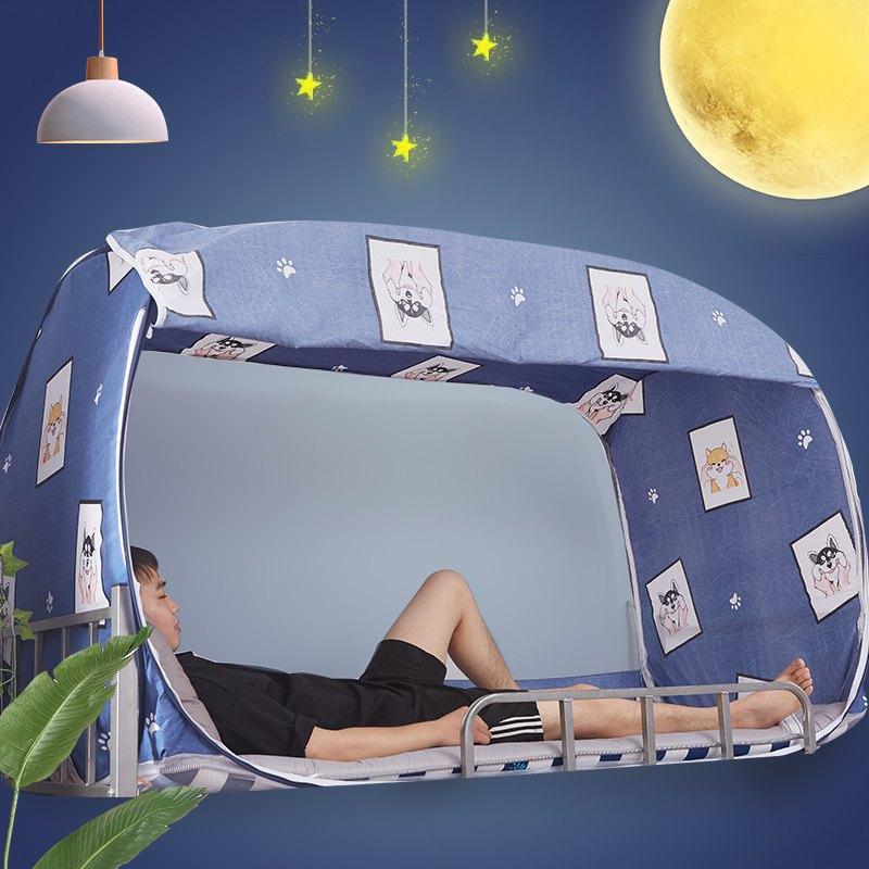 Lều giường đơn khép kín đầy đủ ký túc xá Giường nhỏ lều che bóng kép sử dụng vật lý che bóng giường sinh viên lớp phủ ký túc xá - Bed Skirts & Valances