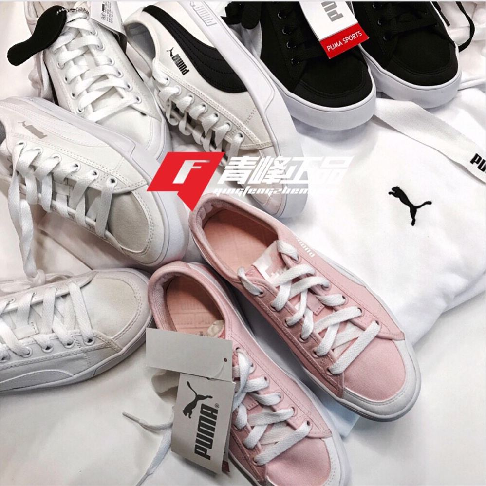 a998356f5df5b2 Puma Puma shoes black and white cherry pink couple men and women shoes  small white shoes