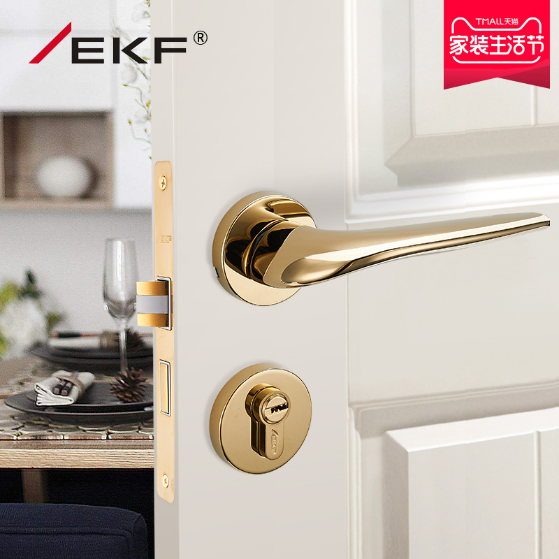 Usd 17430 Germany Ekf Golden Nordic Bedroom Door Lock Modern
