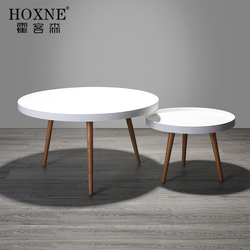 hokerson nordic coffee table small round table solid wood side a few modern minimalist small. Black Bedroom Furniture Sets. Home Design Ideas