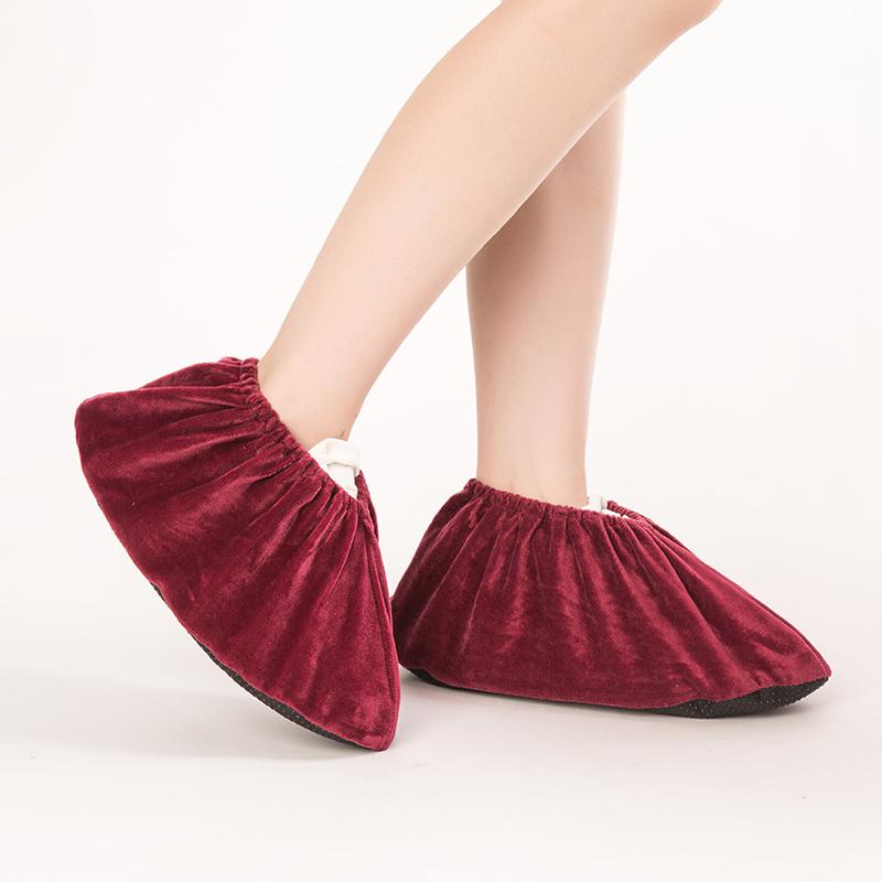 家用防滑绒布鞋套5双装