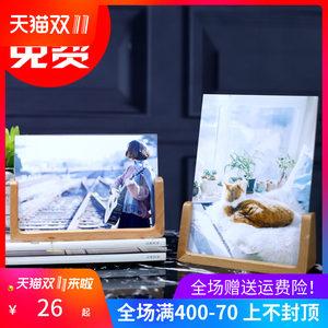 实木儿童可爱ins相框摆台6七7寸韩版北欧办公桌现代简约创意个性