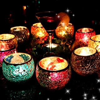 Мозаика стекло свеча тайвань нордический стиль свеча свет ночь еда ткань положить реквизит домой романтический свеча чашка свет обеденный стол украшение, цена 146 руб