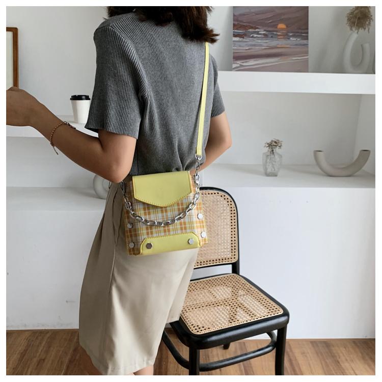 女包秋天流行格子小包包新款潮时尚百搭小方包网红洋派斜挎包详细照片