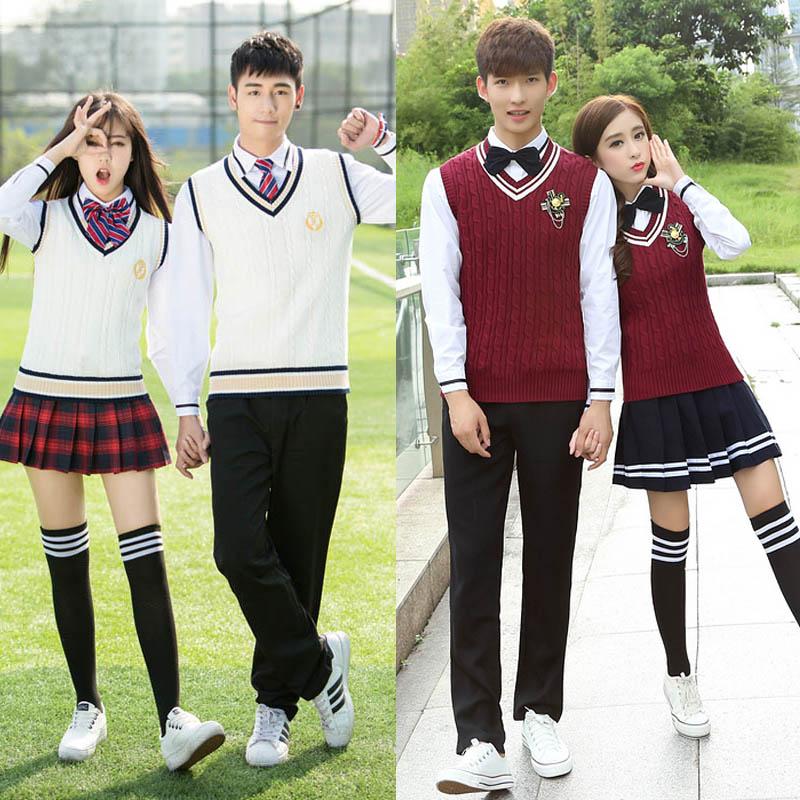 High School Uniform Set College Wind Korean Fall High