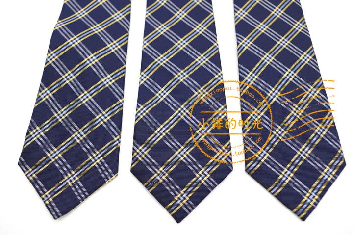 中國代購 中國批發-ibuy99 小排的时光出口日单学院风大格子懒人免打结短款真丝领带女士