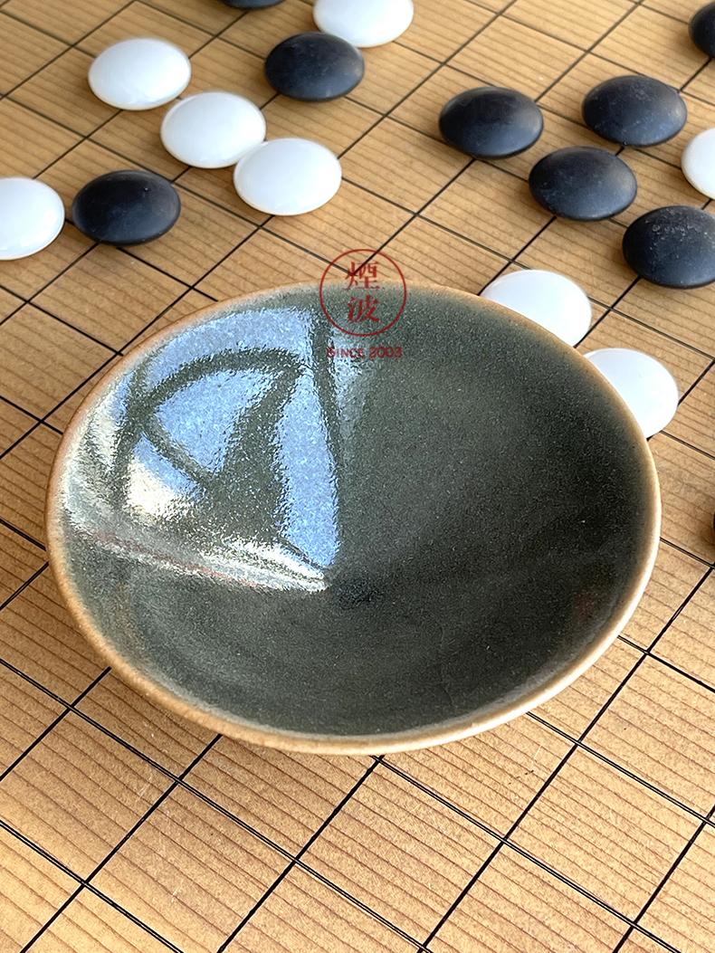 Japan 's pottery master expedition just temmoku black tea light, glass cups