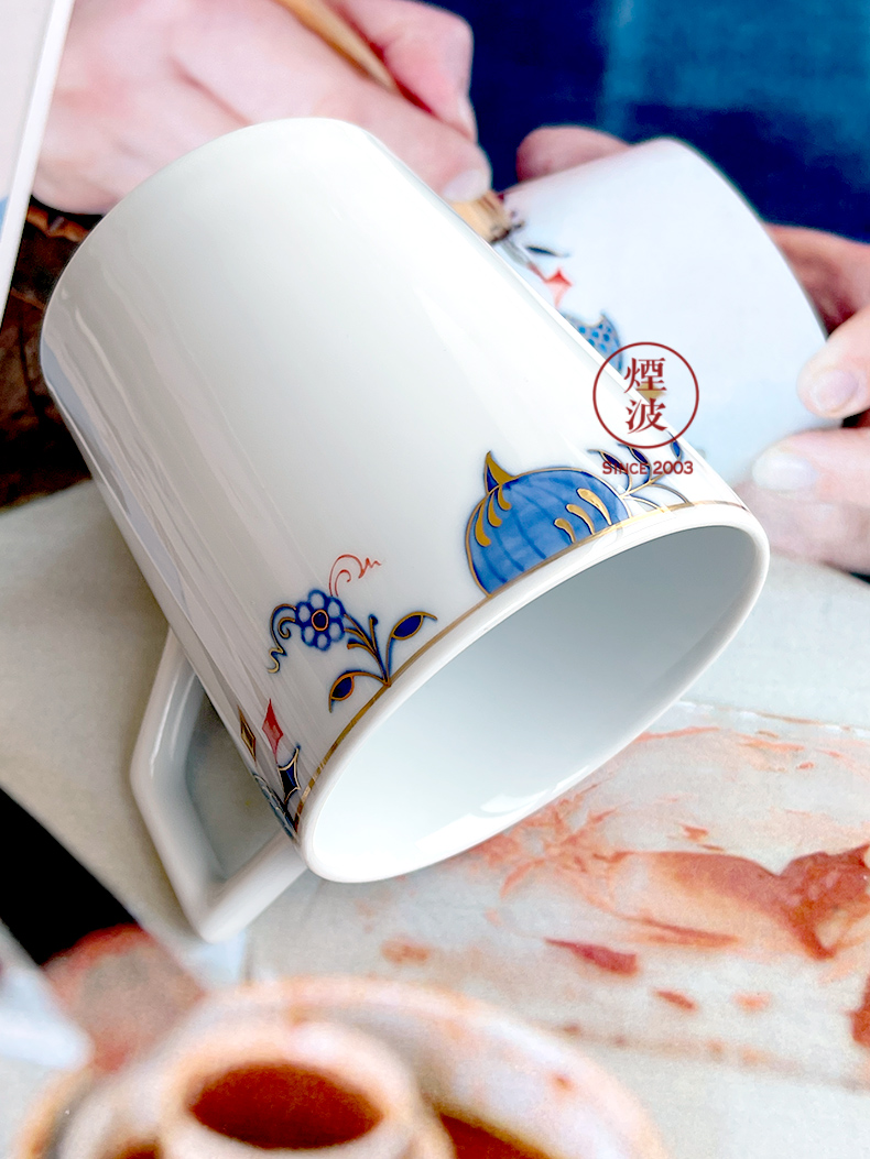 German MEISSEN mason golden onion see colour keller cup series of hand - made of porcelain cup