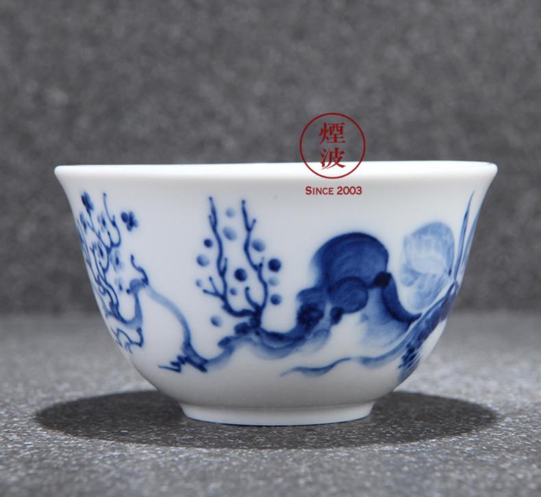 Germany MEISSEN mason mason meisen porcelain blue onion series blue orchid Chinese tea cups