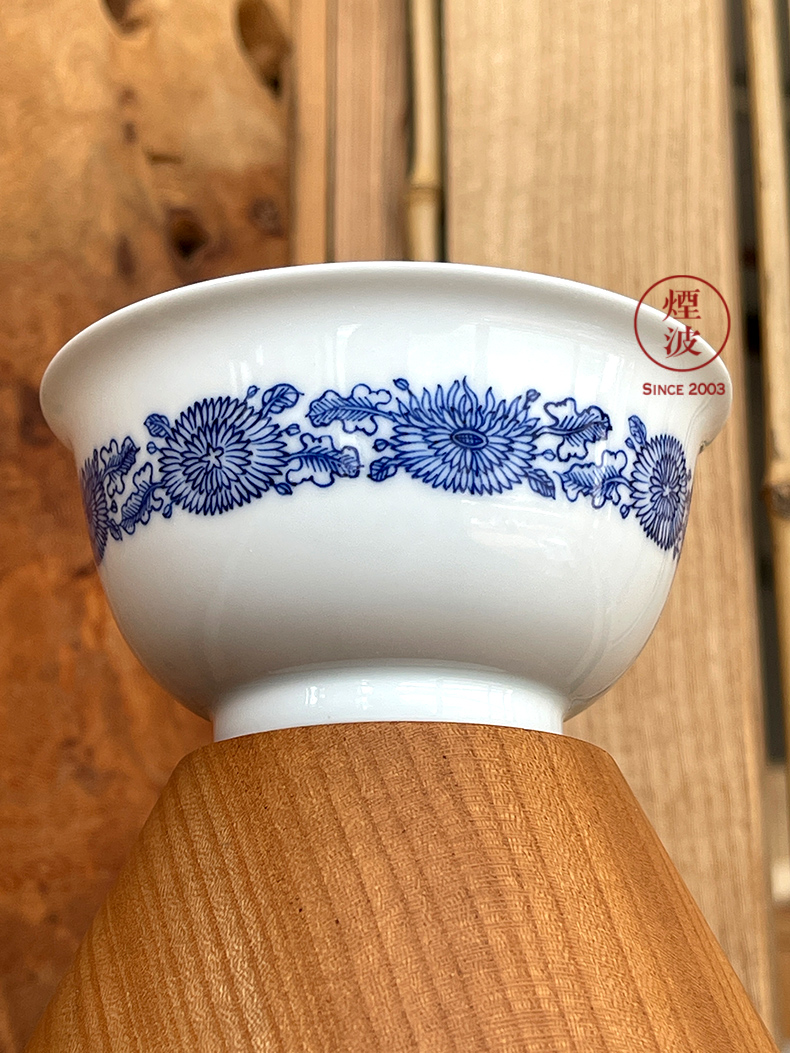 Jingdezhen spring auspicious jade Zou Jun up and blue ruyi bound of eight new system branch by grain painting of koubei