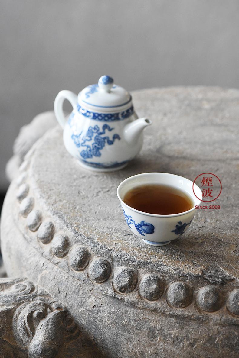 Jingdezhen lesser RuanDingRong made lesser money litchi peach pomegranate many children happiness sanduo sample tea cup tea cups