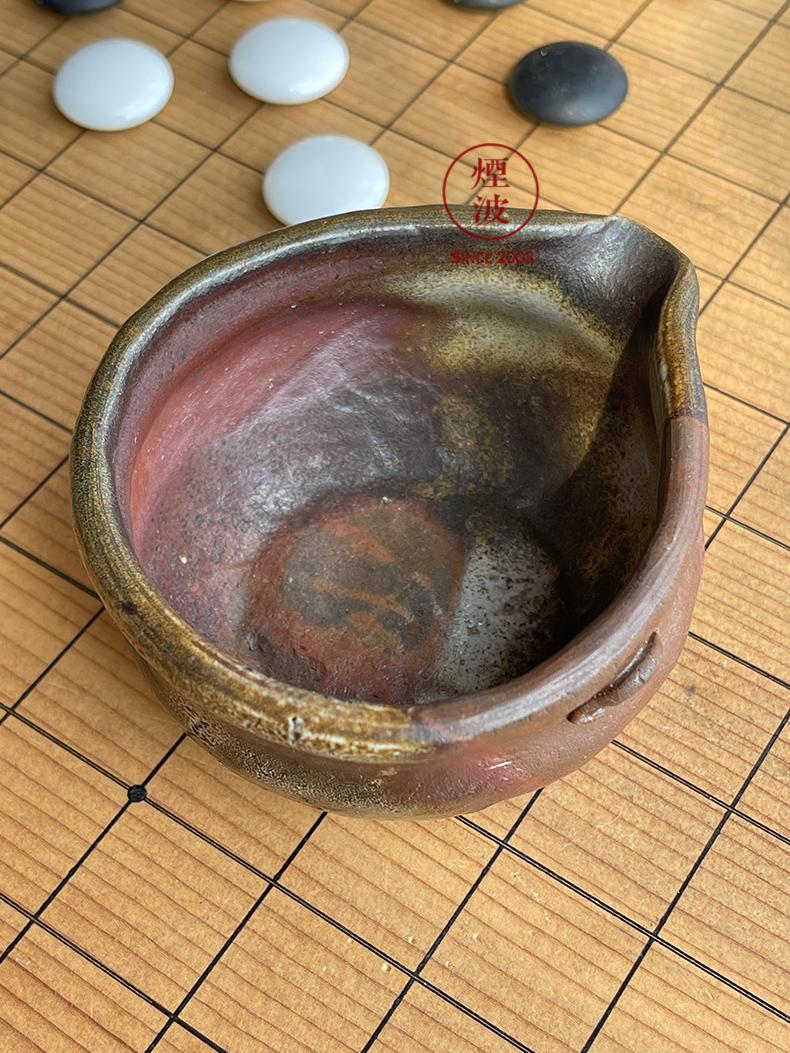 Japanese national treasure case before 焼 world yamamoto TaoXiu firewood wonderful vitrified til glaze red soup cold justice