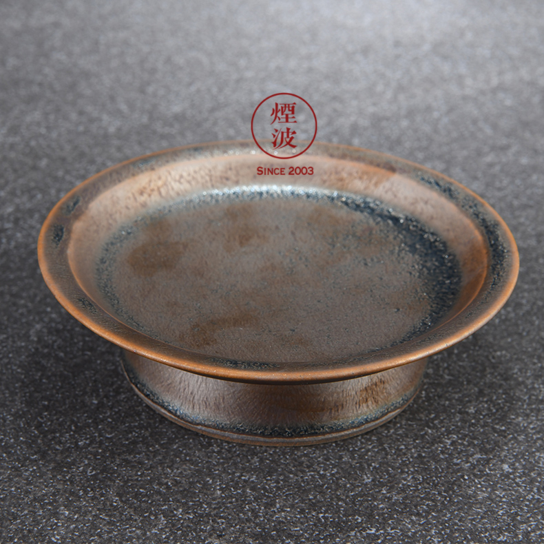 Japanese pottery master expedition just dazzle crystal droplets temmoku glaze tower of dish pot pot bearing snack tray
