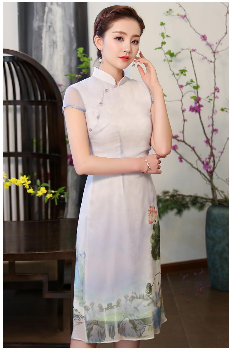 中国风格改良新颖旗袍  (歌曲:寻找仙女湖*12首