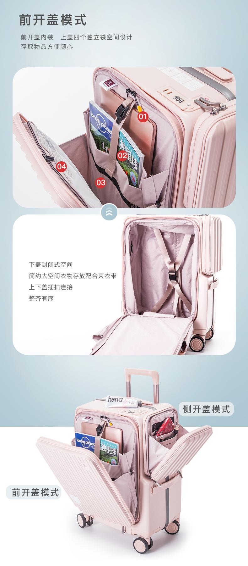 CROWN/皇冠拉链铝框箱拉杆箱商务行李箱