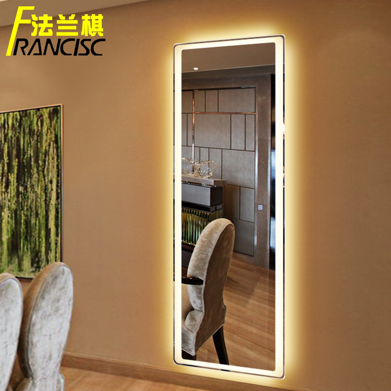Chess Bedroom Dressing Mirror Body With Lights Hanging Wall Led Frameless Ing