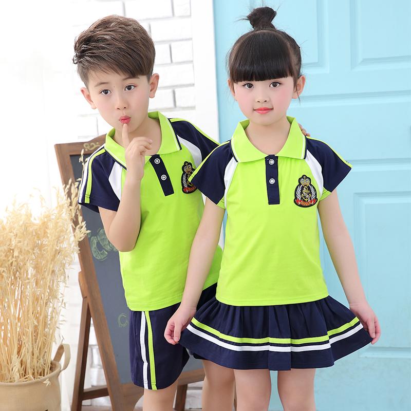Đồng phục học sinh của trẻ em mùa hè mẫu giáo đồng phục phù hợp với đồng phục học sinh tùy chỉnh tiểu học và trung học đồng phục dịch vụ tốt nghiệp Hàn Quốc phiên bản
