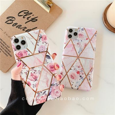 New Marble Flower Cover iPhone 11 pro/xs max/xr/7/8plus Case