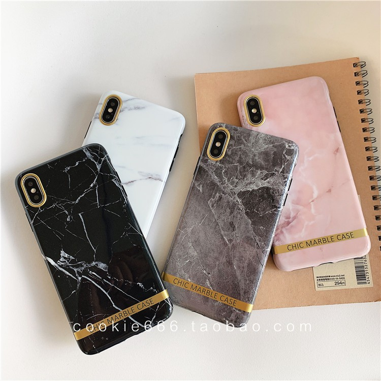 New chic marble cover iPhone XsMAX 78plus xr 11pro soft case