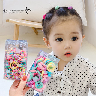 Child hair ring Korea new trumpet baby towel ring color 100 boxed MINI