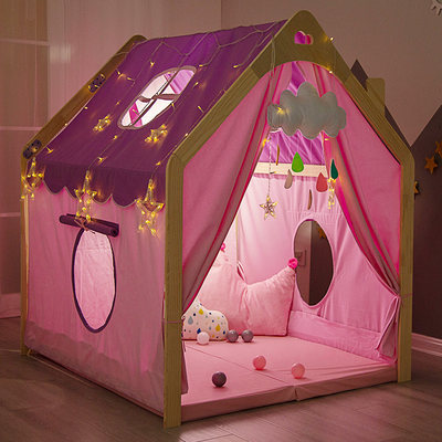 Children's game doll house small house girl boy baby home sleeping bed tent indoor princess dream