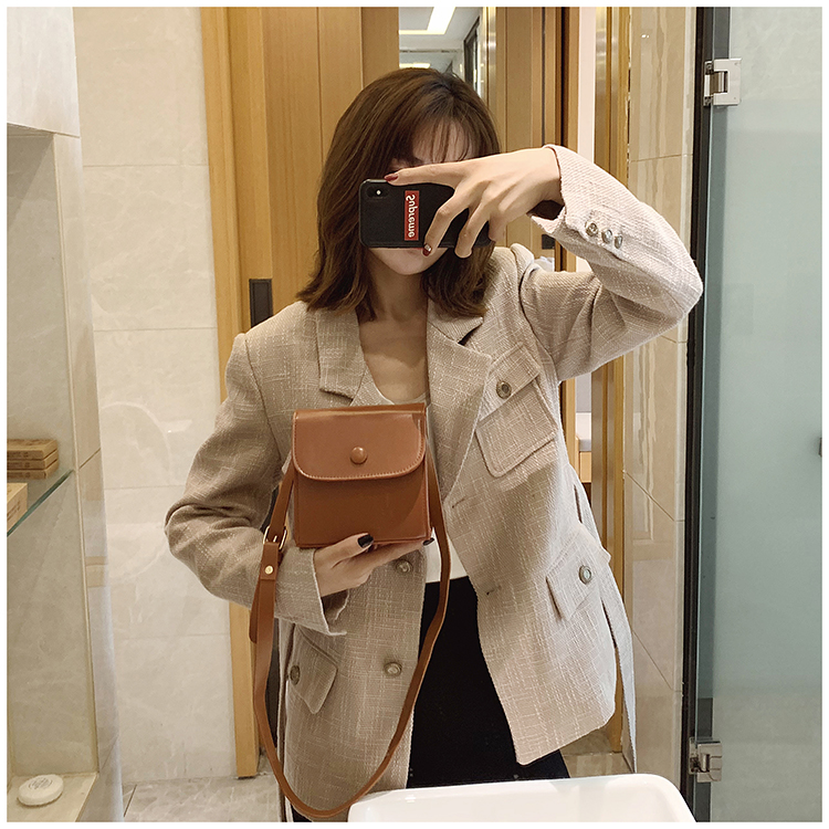 Small bag female new lock PU small square bag fashion shoulder Messenger bag NHXC177343