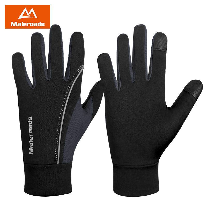 Running gloves men and women all refers to the outdoor autumn and winter warm touch screen mountaineering ski fleece riding non-slip football sports