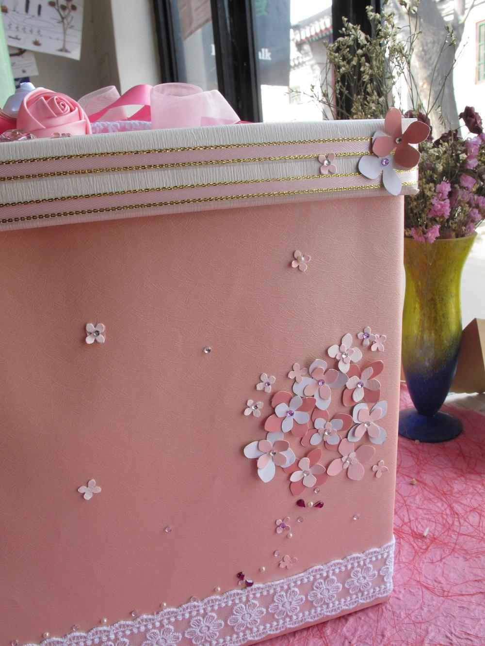 Креативный подарок, Сувенир Оригинальный знак ручной свадебный подарок красное поле взносов обратить коробки хранения бокс-сет