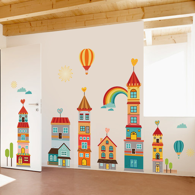 Usd 1944 Large Childrens Room Bedroom Cartoon Castle Decorations