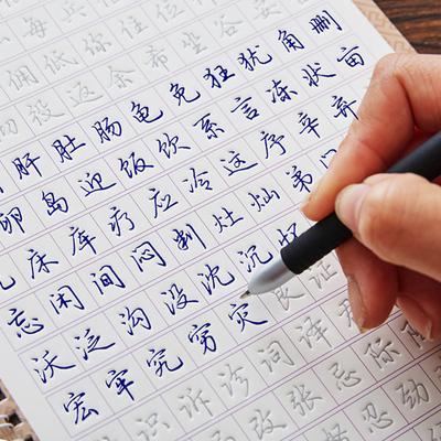 【典轩】成人行楷行书凹槽钢笔字帖