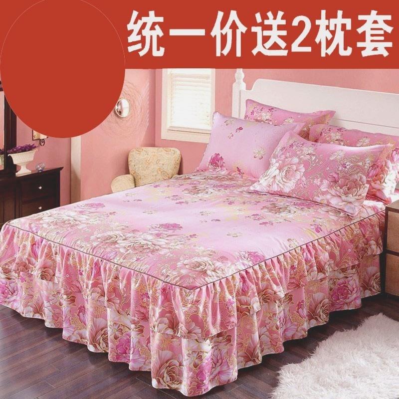 . Khăn trải giường bằng vải lanh trải giường bốn mùa cotton chống bụi đơn mảnh trải giường 1 mét 8 lần 2 một tám năm 5 đảm bảo - Váy Petti