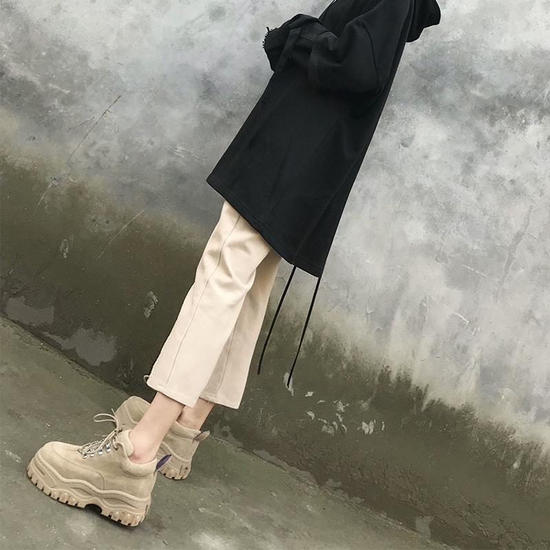 AWa欧美新款韩版ulzzang原宿百搭休闲鞋女鞋INS潮鞋超厚底松糕鞋